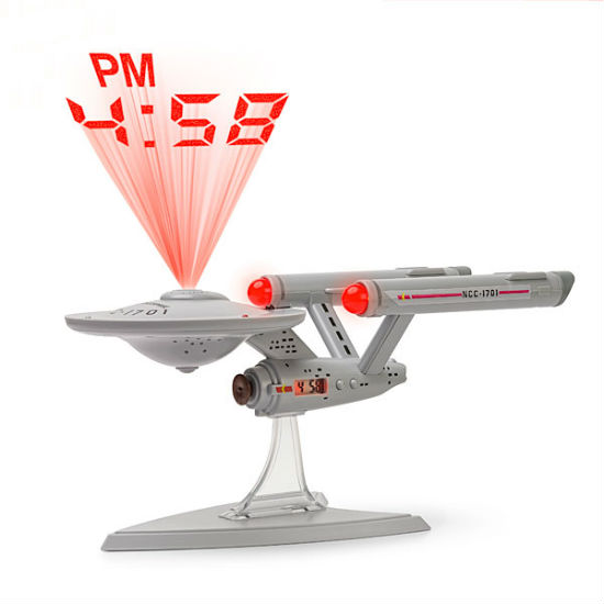 star trek projection alarm clock