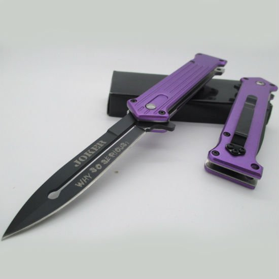 the joker why so serious pocket knife