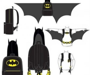 Hooded Batman Backpack With Wings – Now you can protect the mean hallways of Gotham High