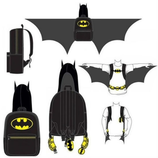 batman hooded backpack