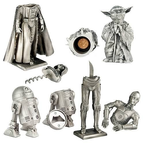 star wars pewter barware set