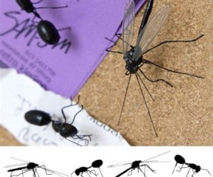 These little bugs can sting if you're not careful, but they sure are great for holding up notes!
