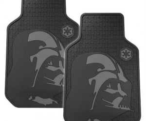 Turn your Toyota into a TIE fighter with some Darth Vader floor mats.