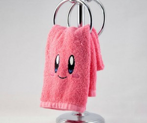 Kirby Embroidered Hand Towel – Watch out because this towel might suck up your essence and turn into you!