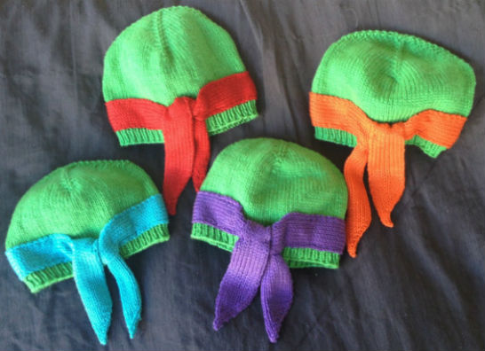 ninja turtles knit beanies
