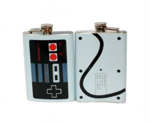 Nintendo Controller Flask – Quit playing games and take control of your drinking habit!