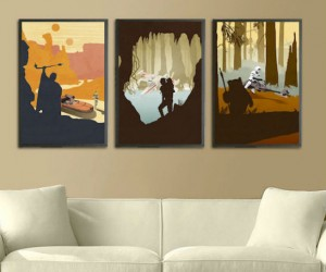 These beautifully printed posters are the perfect addition to any Star Wars fan's home… (or parent's basement, jk)