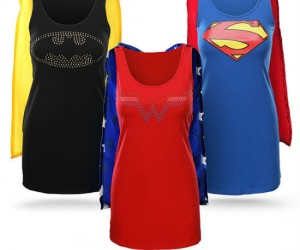 Superheroine Caped Sleep Tanks – Ever wanted to cuddle up next to a superheroine? Well now you can!