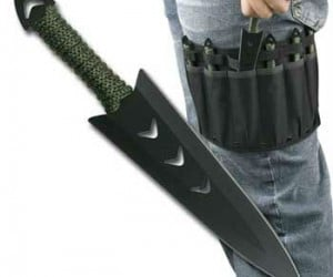 Throwing knife set with leg holster – Includes a deluxe leg holster for easy throwing knife access!