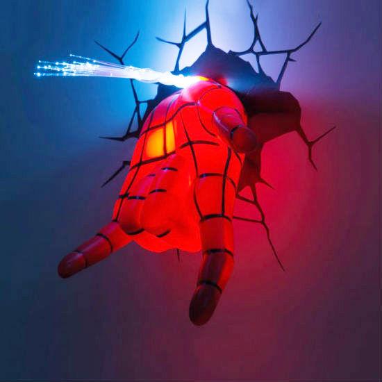 spiderman hand night light