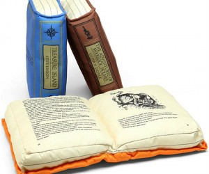 A soft cushioned book would be great for people who fall asleep while reading!