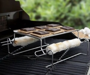 Don't have room for a campfire? As long as you have a grill you can have s'mores!