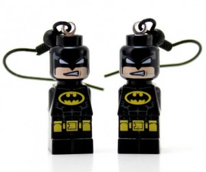 LEGO Batman Earrings – Now you can take this super h-EAR-o with you wherever you go!