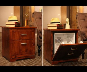 An essential piece of furniture for any dorm room or man cave!