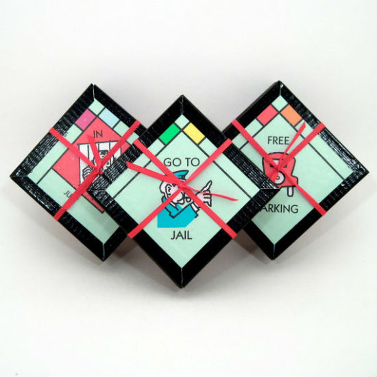 monopoly board coaster