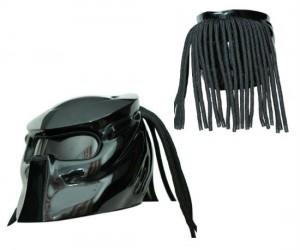 Predator Motorcycle Helmet – There's nothing scarier than seeing a predator on a motorcycle flying towards you at 90mph in your rear view mirror.