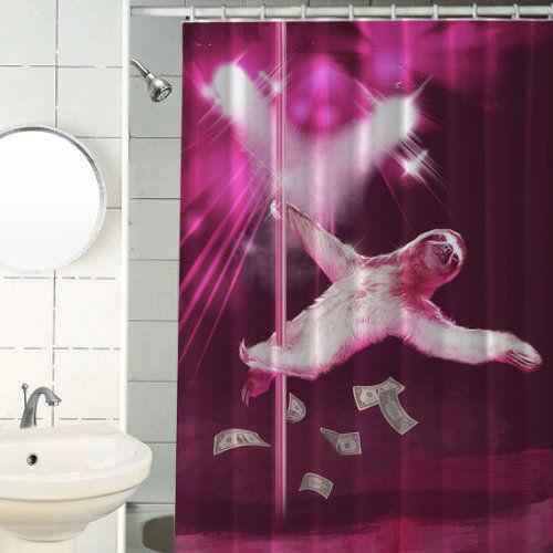 stripper sloth shower curtain