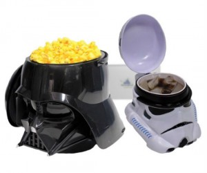 Darth Vader Popcorn Bucket & Stormtrooper Drink Set – The perfect set to accommodate your snacks while watching your next Star Wars marathon!