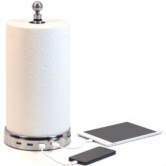 Paper Towel Holder USB HUB