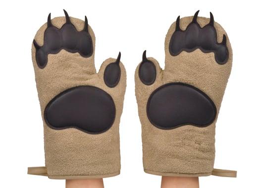 bear hand oven mitt