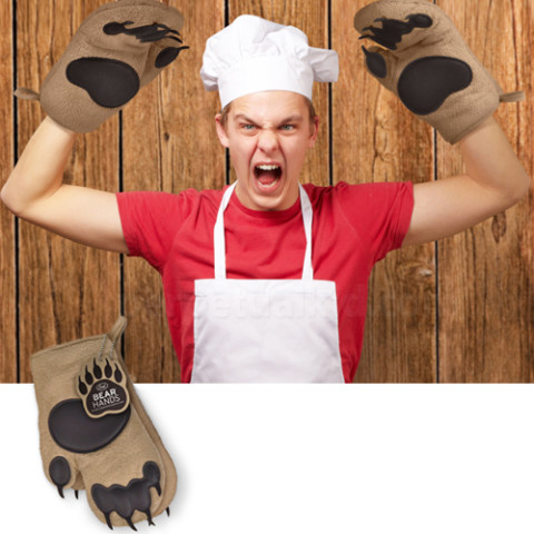 bear hand oven mitts
