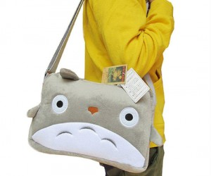 Totoro is such a good neighbor that he will even carry all your stuff for you!