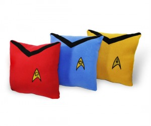 You wanted Star Trek throw pillows, well we made it sew!