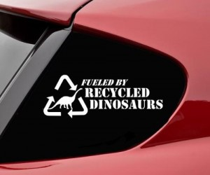 Every time you drive your car, you are recycling a dinosaur!