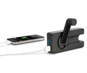Hand Crank iPhone Charger –  Never be without a charger ever again!