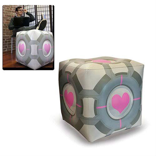 inflatable companion cube ottoman