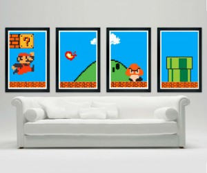 Super Mario Bros (11″ x 17″) Poster Set – Cover your walls with Mario!
