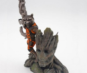Guardians of the Galaxy – Rocket and Groot Statue – Now the galaxy's most dynamic duo can guard your home from the all powerful Ronan!