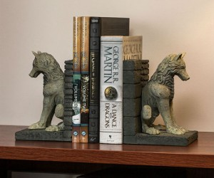 Game Of Thrones Direwolf Bookends – Let Ghost and Nymeria guard your books