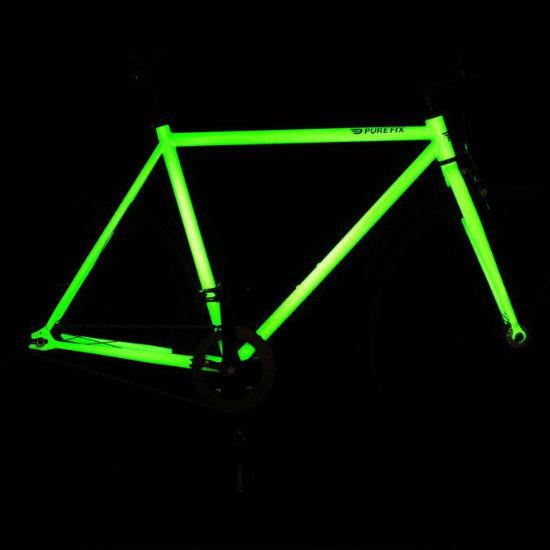 glow in the dark bike frame