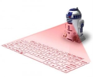Instead of a message from Princess Leia, this R2 projects a functional keyboard!