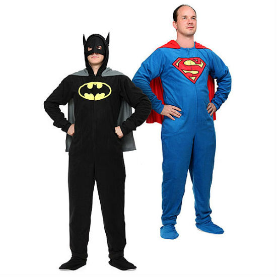 superhero footie pajamas