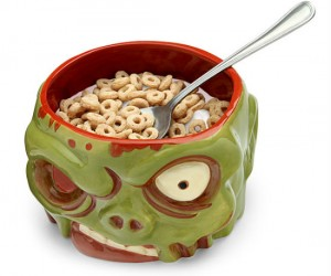 Zombie Head Bowl – Not surprisingly the hollowness of a zombie's head makes for the perfect bowl!