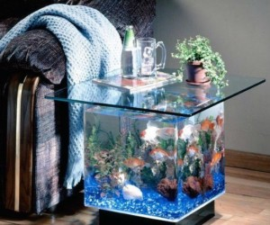 Something seems fishy about this living room…