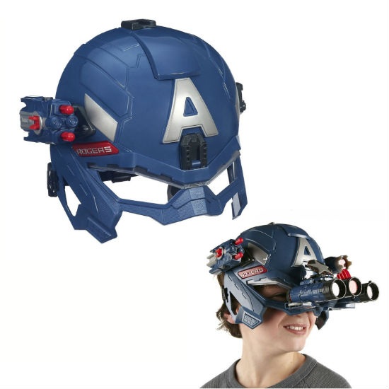 captain america battle helmet