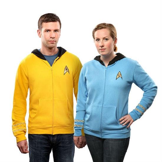 star trek uniform hoodies