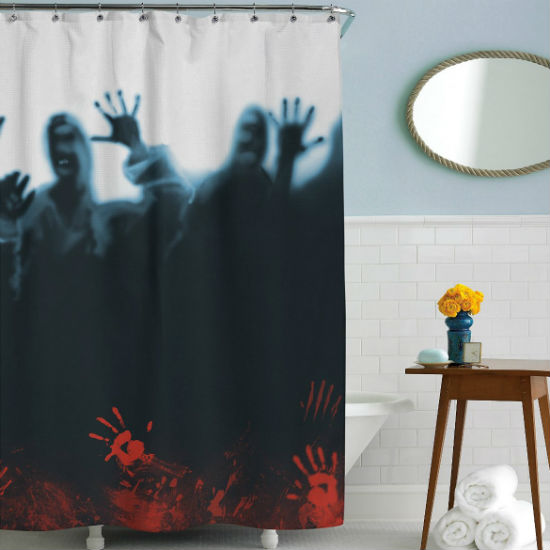 zombie herd shower curtain