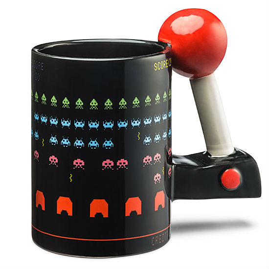 3D space invaders mug