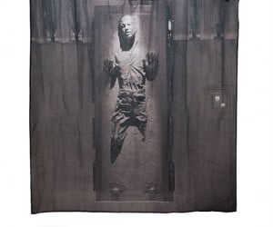 Star Wars Han Solo in Carbonite Shower Curtain – Be careful the steamy water might thaw out Han…