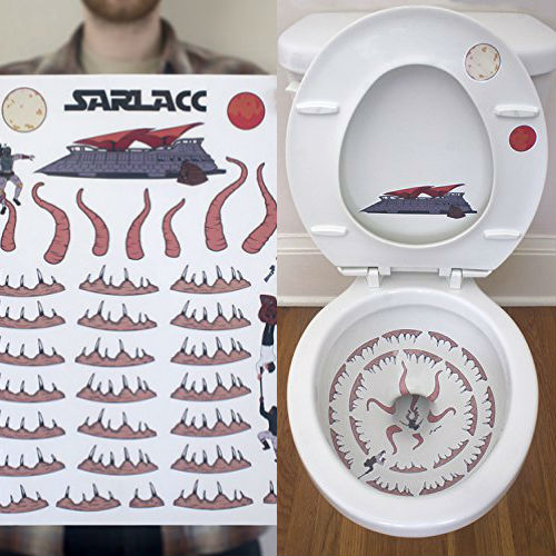 toilet sarlacc sticker set