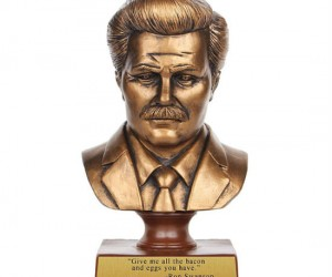 Ron Swanson Bust – The very symbol of freedom, liberty and breakfast food.