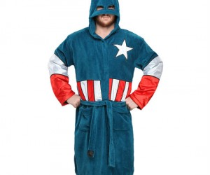 Captain America Bathrobe – 100% American 100% Comfortable