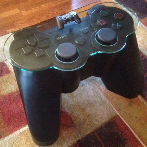 Playstation controller coffee table