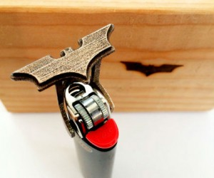How cool would it be to burn the symbol of the Dark Knight right into your notebook or the wood headpost on your bed?