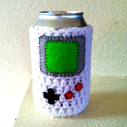 crochet gameboy beer sweater