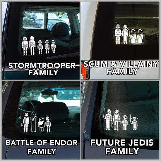 star wars family stickers
